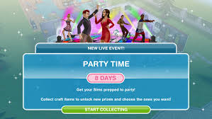 sims freeplay party time live event
