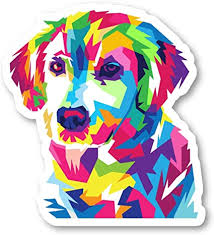 Amazon Com Colorful Dog Sticker Love Dogs Stickers Laptop Stickers 2 5 Inches Vinyl Decal Laptop Phone Tablet Vinyl Decal Sticker S214487 Arts Crafts Sewing
