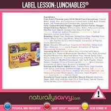 label lesson lunchables