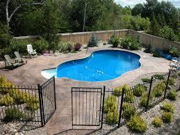 Put In An Inground Swimming Pool And Beautiful Backyard This Make Take Longer Tha Inground Pool Landscaping Landscaping Around Pool Backyard Pool Landscaping