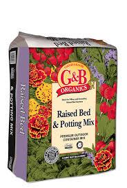 g b organics raised bed potting mix