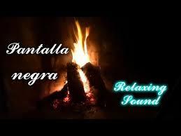 black screen fireplace fire sounds