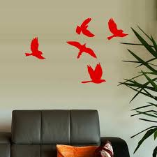 Amazon Com Cardinal Birds Flying Lot 5 Wall Or Window Decal Everything Else