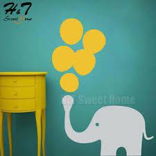 Cartoon Elephant Bubbles Balloons Vinyl Wall Sticker Decal Nursery Kid Baby Room Ebay