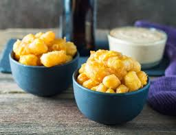 beer battered deep fried cheese curds