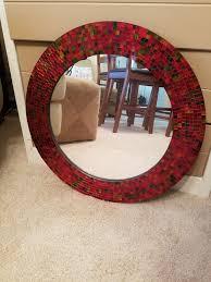 pier 1 red multi mosaic mirror