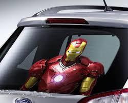 Iron Man Car Sticker Decals 3d Cartoon Movie Perspective Stickers Rear Windshield Glue Car Stickers Car Styling Car Accessories Accessories Spikes Accessories Standsticker Price Aliexpress