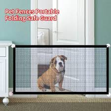 Willstar Pet Soft Magic Gate For Dogs Pet Fences Portable Folding Safeguard Indoor And Outdoor Portable Folding Mesh Pet Gate For Cat Walmart Com Walmart Com