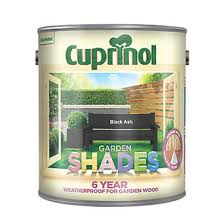 Cuprinol Garden Shades Woodstain Matt Black Ash 2 5ltr Exterior Wood Paint Screwfix Com