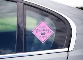 Daddy S Mommy S Princess On Board Car Decal Funny Etsy
