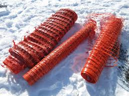 Albrecht Auctions 3 Rolls Of Orange Plastic Snow Fence