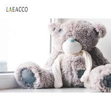 Laeacco صور خلفيات تيدي لعبة دب دمية ورق حائط جميل الطفل صورة