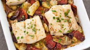Roast Cod with Artichokes, Olives, and ...
