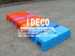 Injection Moulded Temporary Fence Feet Plastic Temp Fencing Stands Portable Fence Polyblock Base