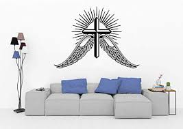 Amazon Com Bestickershop Christianity With God All Things Are Possible Faith Wall Decals Religious Quotes Family Scripture Home Decor Christian Vinyl Wall Art 1323re Home Kitchen