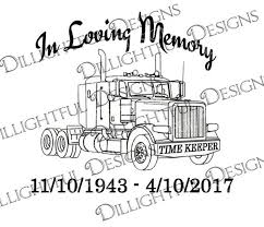 Decal In Loving Memory Peterbilt Loss Svg Sticker Decal Car Etsy