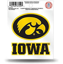 Amazon Com Rico Iowa Hawkeyes Logo Static Cling Car Decal Ncaa Sports Outdoors