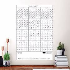 Wpe2713 Yearly Dry Erase Calendar Decal By Wallpops
