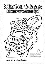 Sinterklaas Kleurwedstrijd Parbedie