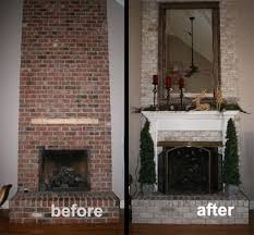 remodeling a painted brick fireplace