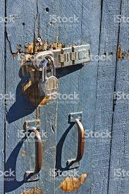 Lock On Wood Gate Stock Photo Download Image Now Istock