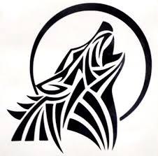 Wolf Moon Howling Silhouette Cool Car Truck Window Vinyl Decal Sticker 12 Colors Marquesan Tattoos Tribal Wolf Tattoo Tribal Wolf