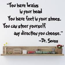 Inspiring Dr Seuss Have Brain In Your Head Quotes Wall Sticker Lettering Decals Home Garden Children S Bedroom Words Phrases Decals Stickers Vinyl Art
