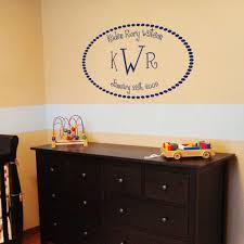 Three Letter Monogram Full Name And Birth Date Wall Decal Sticker Graphic