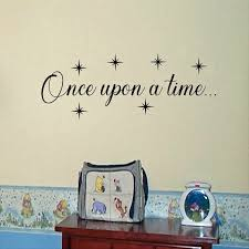 Once Upon A Time Vinyl Wall Decal Fairy Tale Nursery Etsy