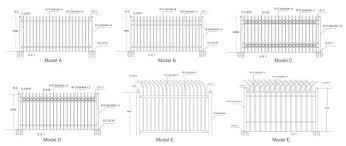 1 8x2 5m Garrison Steel Picket Fence Panel Steel Picket Fence Factory