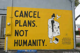 April 6, 2020 Cancel plans. Not humanity. mural by Corie Mattie in West  Hollywood, CA | LA Woman Photography