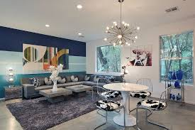 living rooms with striped accent walls