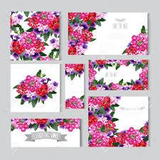 Tarjetas Elegantes Con Flores Decorativas Elementos De Diseno