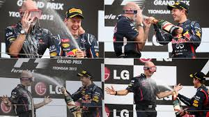 On this day 6 years ago, Adrian Newey came prepared to the podium  celebrations in Korea : formula1
