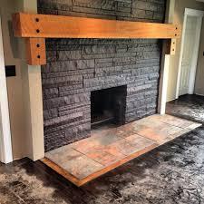 slate fireplace hearth design