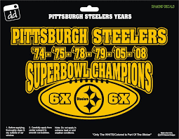 Pittsburgh Steelers 6x Superbowl Champions Decal Vinyl Sticker Car Truck Suv Laptop Window Car Decals Vinyl Gold Vinyl Decals Pittsburgh Steelers