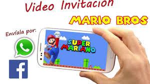 Video Invitacion Super Mario Bros Youtube