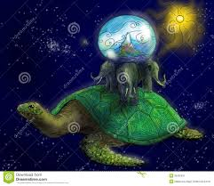 Tierra Plana Antigua En Espacio Stock de ilustración - Ilustración ...