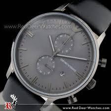 emporio armani chronograph gray