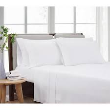 cannon solid white twin 4 piece sheet