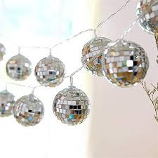 Amazon Com Acelist 50 Led Disco Ball Mirror Led Party Light String Christmas Lanterns For Holiday Wall Window Tree Decorations Indoor Outdoor Patio Party Yard Garden Kids Bedroom Living Warm White Garden
