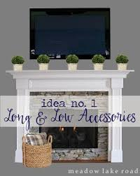 tips for decorating a mantel with a tv