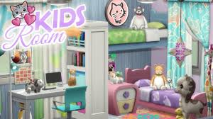 Animal Lover Kids Bedroom The Sims 4 Cats And Dogs Speed Build Youtube