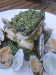 Mackerel stuffed with salsa verde ...