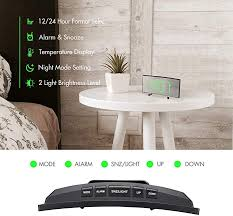 Seedan Digital Alarm Clock 7 Curved Dimmable Led Screen Digital Clock For Kids Bedroom Green Large Number Clock Lightweight Smart Alarm Clock Snooze Function 12 24 Hour Usb Port Without Adapter Home Kitchen