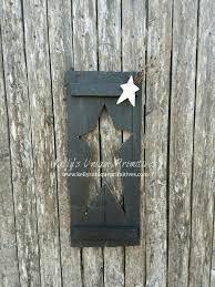 shutter stars handmade wall decor signs