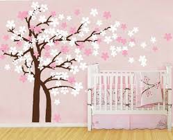 Nursery Cherry Blossom Wall Decal Baby Nursery Tree Decals Family Tree Flower Decal Pink White Girl Wall Decor Cherry Blossom Tree Dfsdfsafdfdsafsf