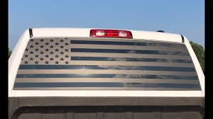How To Install A Back Window Flag Wrap Decal Dodge Ram Gets Rear Window Wrapped In American Flag Youtube