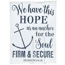 Hebrews 6 19 Wood Wall Decor Hobby Lobby 1482769