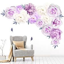 Wholesale Purple Flower Wall Decals Buy Cheap In Bulk From China Suppliers With Coupon Dhgate Com